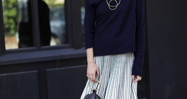 Eniwhere Fashion — Pleated skirt 012