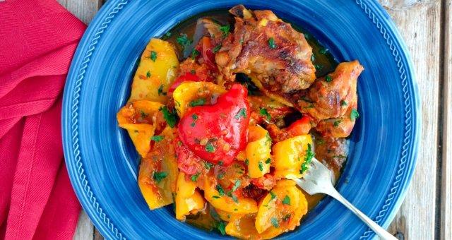 peperonata e pollo1