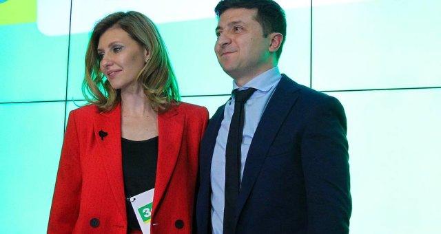 Владимир Зеленский, Елена Зеленская, инаугурация 2019