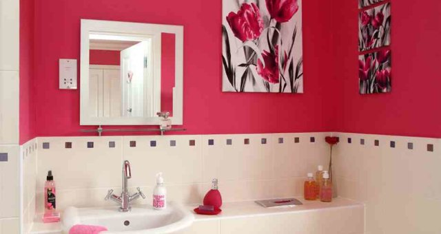 ванная, яркая ванна, фото ярких ван