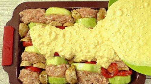 Сытное, но легкое блюдо из кабачков с оригинальной подачей