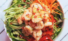 Салаты с креветками: рецепты