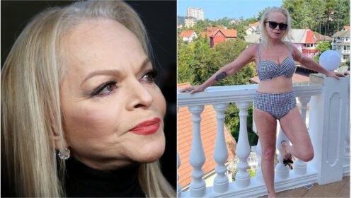 «Испытываю чувство неловкости»: В Сети обсуждают фотографии 65-летней Ларисы Долиной в купальнике (фото)