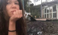 Дом Русланы обгорел из-за удара молнии (фото)