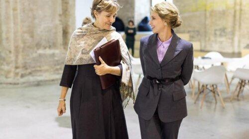 Елена Зеленская поразила новой прической и модными украшениями на встрече с послом Германии