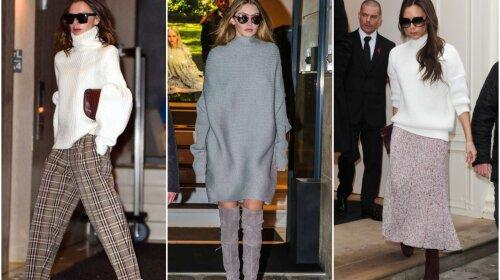 Як носити светр oversize: кращі приклади від Ірини Шейк, Вікторії Бекхем і багатьох інших знаменитостей