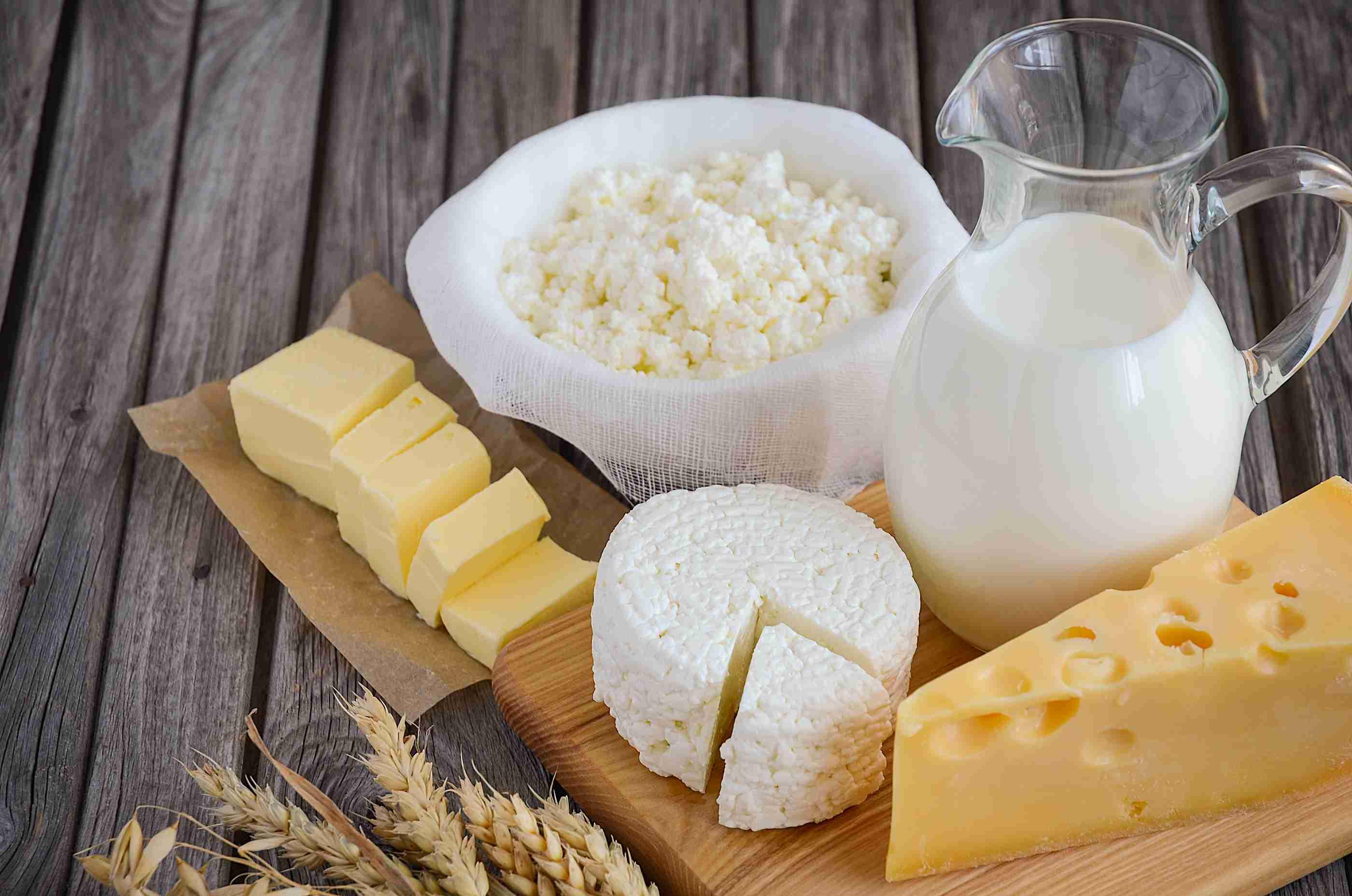 Днем, картинка с молочными продуктами